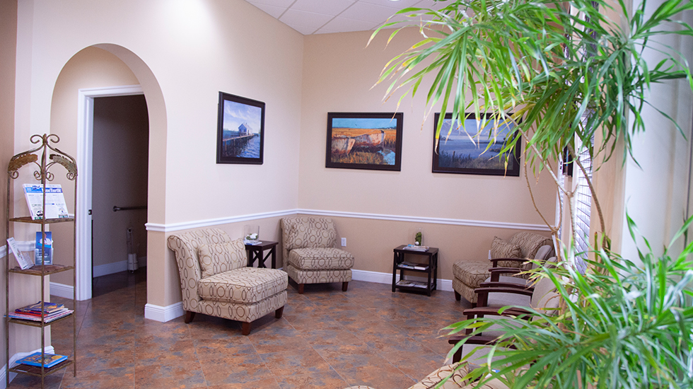 Dental office seating area